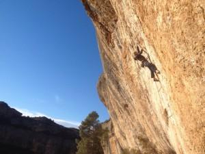 Climbing in Margalef, Spain